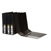Marbig Clearview Insert Binder A4 3D 50mm (400p) BX12 Black