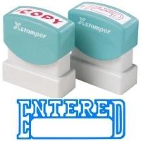 XSTAMPER STAMP - Entered/Date (Blue) 1205 (5012050)