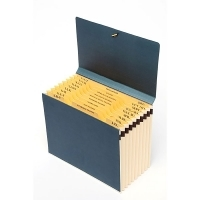 Marbig Expanding File A5 A-Z Jan-Dec Manilla 90062 Blue
