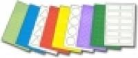 Custom Label A4 BX100 2/sheet Fluro Colours