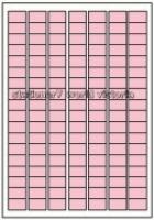 Custom Label 460 A4 BX100 126/sheet Pink Tint 25x15mm