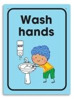 Durus Hygiene Wall Sign - Wash Hands