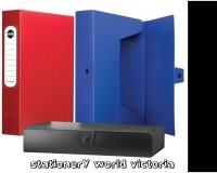 Marbig Box File A4 Polyprop+Button BX10 2009802 60mm Black