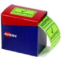 Avery Dispenser Label 75x48.8mm PK1500 Printed ACCEPTED