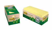 3M Post It Notes 654R-24CP-CY 76X76mm Recycled Yellow PK24