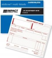 Adjustment Note Book Triplicate A5 Carbonless Impact CS630