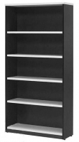 LOGAN BOOKCASE 4 Shelf 18900x900 White & Ironstone