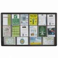 Quartet Penrite Internal Glass Fabric Noticeboard 1500x900mm
