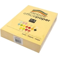 Rainbow Colour Copy Paper A4 80gsm Lemon Yellow (ream-500sheets)