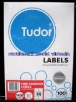 Tudor Laser Inkjet Labels A4 BX100 141072 (14/sh) 98x38mm