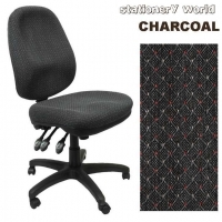 POSTUPRIGHT OFFICE CHAIR High Back PO500ADK Charcoal