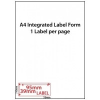 Integrated Label Forms LF9539-1 PK500 1/sheet 95x39mm