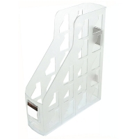 Magazine File Holder Metro 3462 Plastic Set of 3 Snow/Crystal