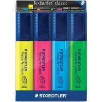 Staedtler Textsurfer Classic 364 Highlighter WLT4 ASSTD 364-WP4