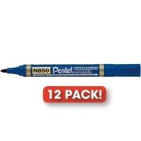 Pentel N850 Marker Permanent Bullet Blue BX12