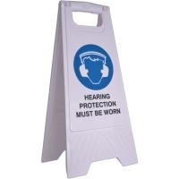 CLEANLINK SAFETY SIGN Hearing Protection Must Be Worn 32x31x65cm