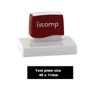 iSTAMP Pre-Inked Laser Stamp iS09 48x11mm