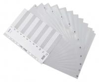 Divider A4 PVC Grey 1-12 Bantex 6211