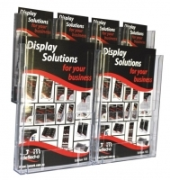 Deflecto Brochure Holder Lit-Loc Wall Display A4 x2 & DL x4