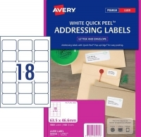 Avery Laser Label L7161 BX100 18/sheet