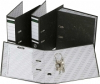 Bantex Lever Arch File Board Economy A4 Mottly-Black 1018-10