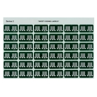 Avery Coding Label Month PK180 43407 (JUL) 25x38mm D Green