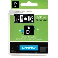 Dymo Labelling Tape D1 19mm x 7M 45811 White on Black