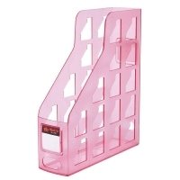 Magazine File Holder Metro 3462 Plastic Set of 3 Strawberry
