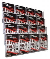 Deflecto Brochure Holder Lit-Loc Wall Display A4 x16