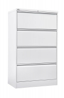 Go Lateral Filing Cabinet 4 Drawer White Satin