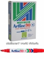 Artline 90 Marker Permanent Medium Chisel Red BX12