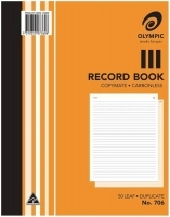 Record Book Duplicate 250x200 Carbonless Olympic 706