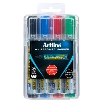 Artline 577 Whiteboard Marker Bullet Magnetic Case Asstd PK4