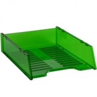 Document Tray Italplast Stackable i60 (Tinted) Green