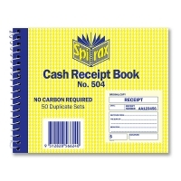 Cash Receipt Book Duplicate 102x127 50LF Carbonless Spirax 504