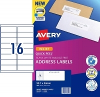 Avery Inkjet Label J8162 PK25 16/sheet