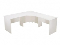 Rapid Vibe Open Corner Workstation 1800x1800x600mm White