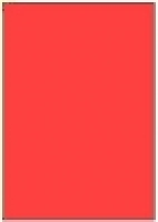 Custom Label 401 A4 BX100 1/sheet Fluro Red 210x295.2