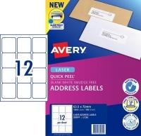Avery Laser Label L7164 BX100 12/sheet