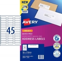 Avery Inkjet Label J8156 PK25 45/sheet 58x17.8mm