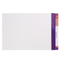 AVERY LATERAL FILE Mylar Reinfcd Tabs Fcap 42437 Purple/Clear