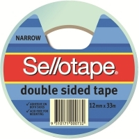 Sellotape Double Sided Tape 404 12mm x 33M 960602