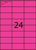 Rediform Colour Labels A4 Bx100 (24/sh) 70x36 Flouro Pink