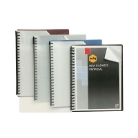 Marbig A4 Clearfront Display Book 20pocket 2007202 Black
