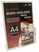 Deflecto Sign Holder A4 Portrait + DL pocket 590501