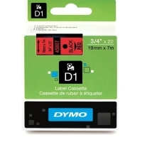 Dymo Labelling Tape D1 19mm x 7M 45807 Black on Red