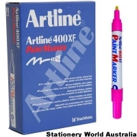 Artline 400XF Paint Marker 2.3mm Pink BX12