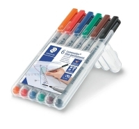 Staedtler 315 Lumocolor Pens Non-Permanent 315WP6 WLT6