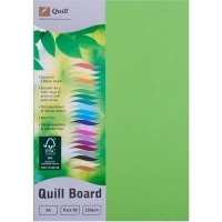 Quill Board A4 210gsm 90307 Pack 50 - Lime