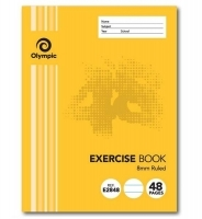 Olympic Exercise Book 48page Stapled 225x175mm PK20